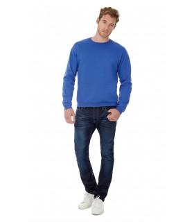 Sweatshirt col rond ID.202 - CGWUI23 50% coton / 50% polyester. Molleton gratté. Bord inférieur, poignets et col en côte élastha