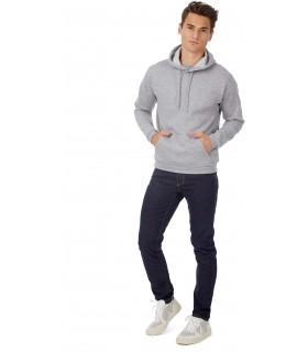 Sweatshirt capuche ID.203 - CGWUI24 50% coton / 50% polyester. Molleton gratté. Bord inférieur et poignets en côte élasthanne 1x