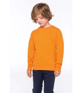 Sweat-shirt col rond enfant - K475 80% coton / 20% polyester. Molleton gratté. Manches montées. Coupe tubulaire. Finition bord-c