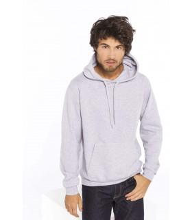 Sweat-shirt capuche homme - K476 80% coton / 20% polyester. Molleton gratté. Manches montées. Coupe tubulaire. Capuche doublée a