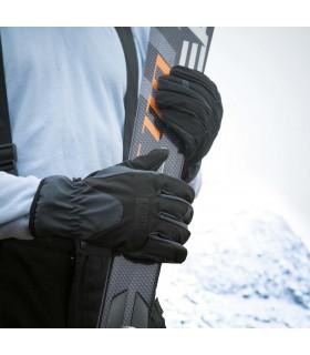 GANTS SOFTSHELL - R134X Tissu 3 couches soudées imperméable 3000mm et respirant 3000gr/m2/24h. Couche externe : 93% polyester /