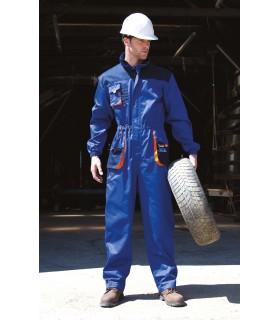 Combinaison Lite - R321X 80% polyester / 20% coton sergé. Col montant et fermeture zippée à l'avant avec rabat de protection ext