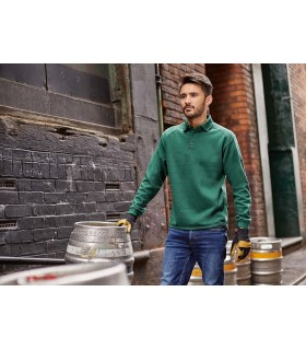 SWEAT-SHIRT HEAVY DUTY COL POLO - RU012M 80% coton peigné ringspun / 20% polyester. Enduit de protection anti-tâches SpotShield™
