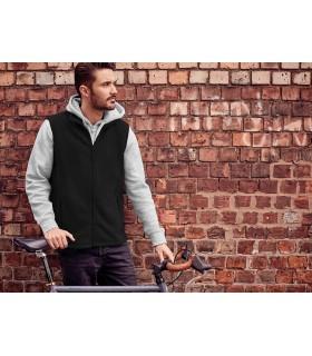 GILET POLAIRE HOMME - RU8720M 100% polyester anti peluche. Matière molletonnée compacte. Surface plus lisse pour faciliter la dé