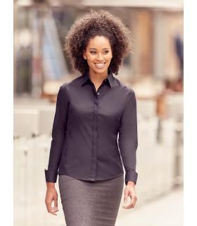 CHEMISE FEMME MANCHES LONGUES ULTIMATE STRETCH - RU960F 75% coton / 25% élastomultiester (fibre Lycra® T400). Cette nouvelle fib