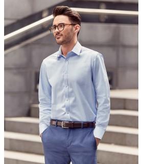 CHEMISE HOMME MANCHE LONGUES À CHEVRONS - RU962M 84% coton / 16% polyester. Cette chemise à motif à chevrons offre une alternati