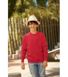 SWEAT-SHIRT ENFANT MANCHES RAGLAN (62-039-0) - SC62039 80% coton / 20% polyester. Bande de propreté ton sur ton en jersey. Taill