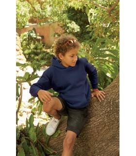 SWEAT-SHIRT ENFANT CAPUCHE CLASSIC (62-043-0) - SC62043 80% coton / 20% polyester. Poche Kangourou. Capuche doublée sans cordon