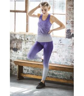 Débardeur imprimé - TL302 60% nylon / 32% polyester / 8% élasthanne. Débardeur moulant ultra-élastique col rond et large dos nag