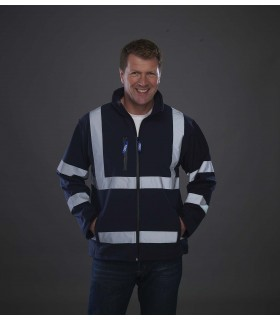 Veste softshell haute visibilité - YHVK09 100% polyester. Softshell 3 couches, imperméable 8000 mm. Extérieur 100% polyester. In