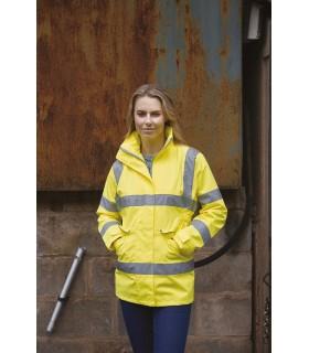 Veste haute visibilité Management femme - YHVP189 Veste 100% polyester combinant des fonctionnalités coupe-vent, imperméable et