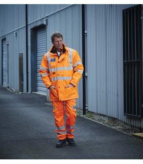 Parka de sécurité haute visibilité 7en1 - YHVP711 Veste extérieure : polyester Oxford avec revêtement PU 300D. Doublure en mai