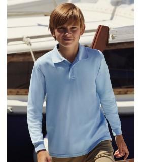 Kids 65/35 Long Sleeve Polo 578 ·180 g/m² (White: 170 g/m²)  ·65% polyester, 35% coton  ·bande de propreté  ·patte de boutonnage
