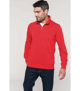 K487 - Sweat-shirt col zippé  