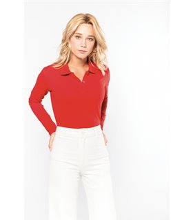 K244 - Polo manches longues femme